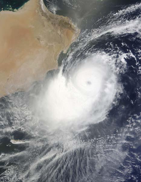Cyclone Phet photo by NASA