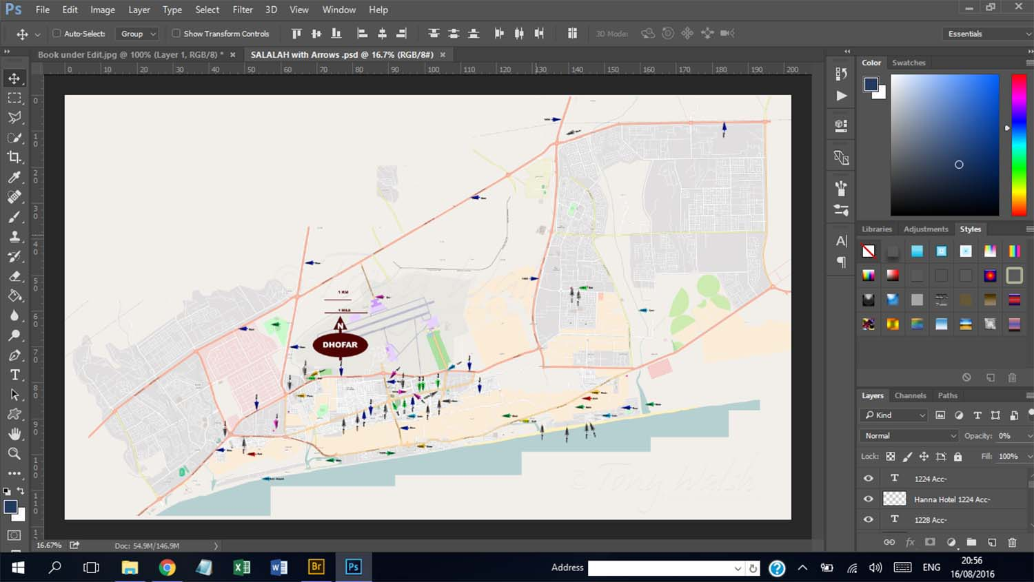 Salalah Map under work