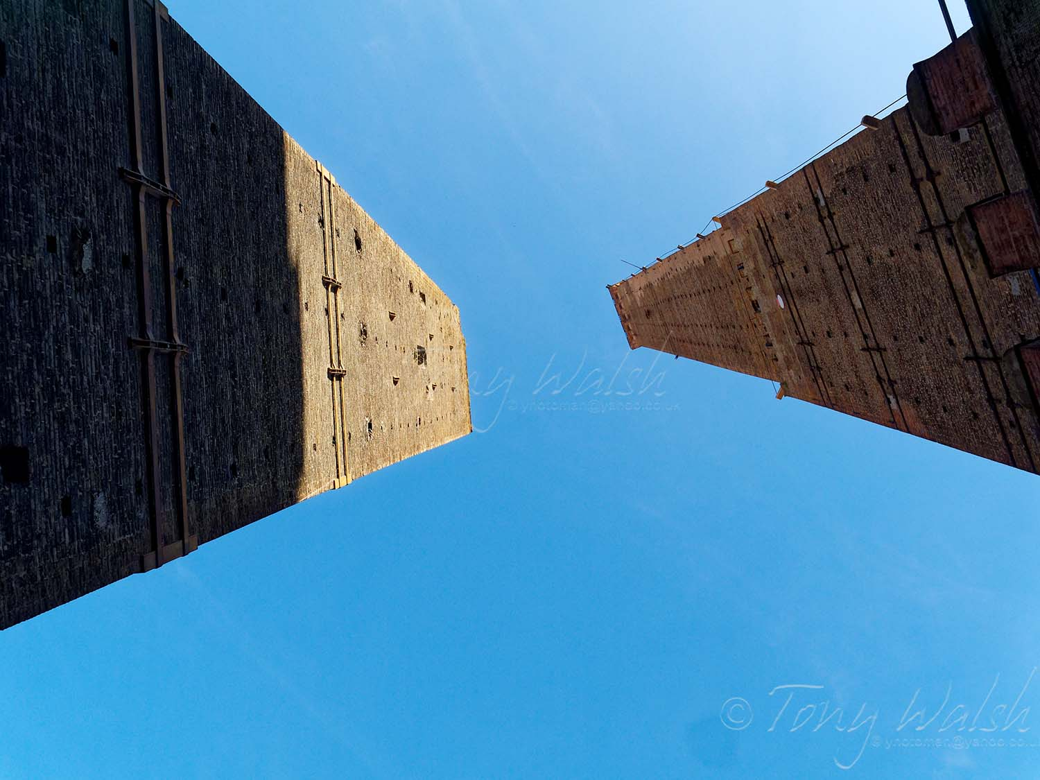 The Two Towers of Bologna-Garisenda and Asinelli Towers