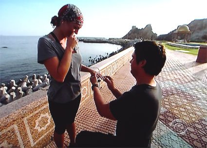Amazing Race contestant proposes marriage in Oman