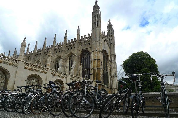 Bikes at Kings College Chapel
