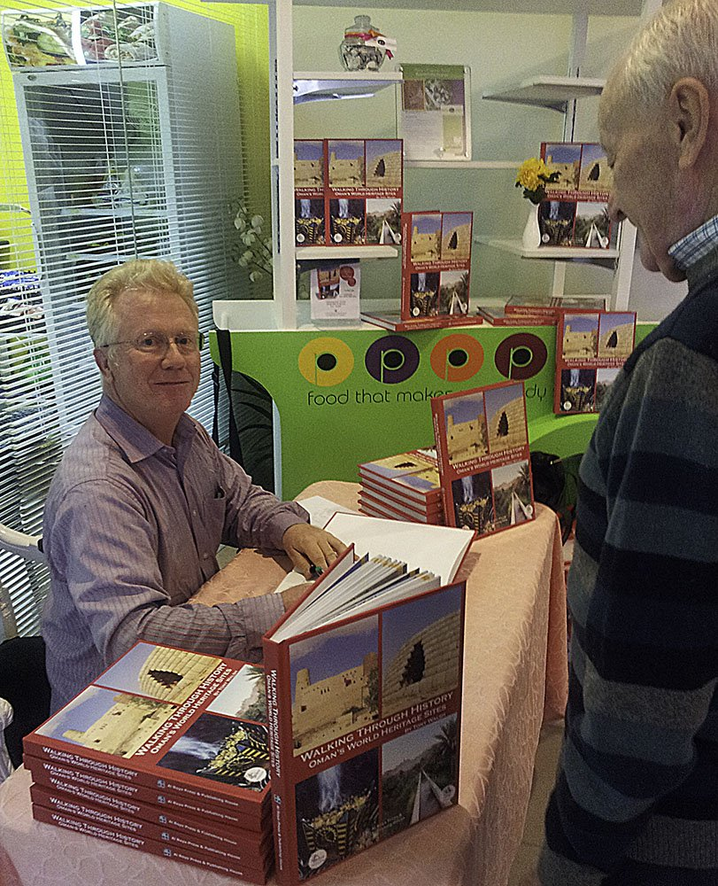 Tony at Book Signing in Sohar