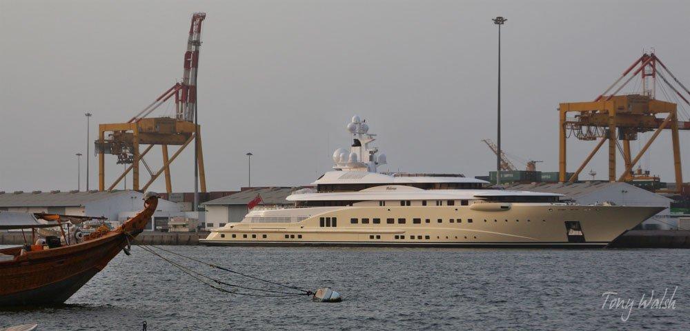 David Geffen's yacht Pelorus in Mina Sultan Qaboos