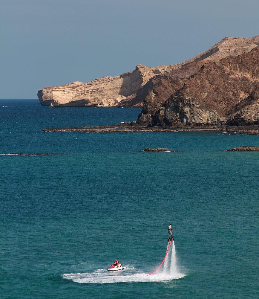 Flyboard off Al Bustan