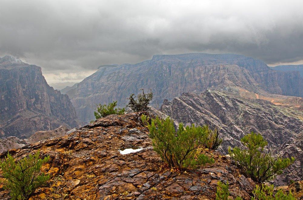 Oman Mountains Rain