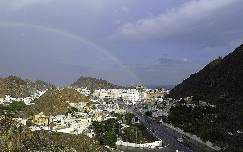 Rainbow over Muscat