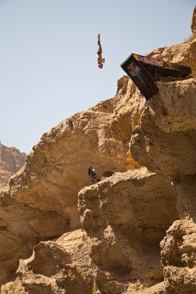 Red Bull Cliff Diving in Oman
