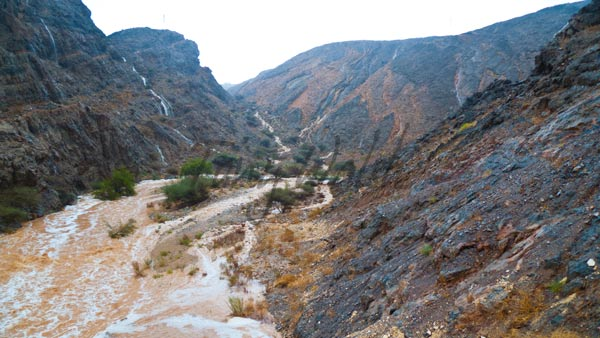 Waterfalls in Muscat Mountains